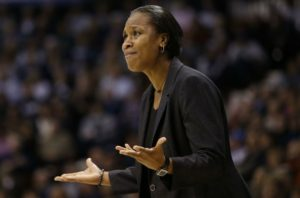 The University of Cincinnati (UC) women's basketball team head coach Jamelle Renee Elliott